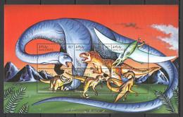 PK016 MALDIVES FAUNA REPTILES DINOSAURS 1KB MNH - Prehistorics