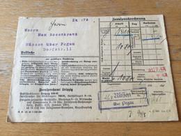 K15 Deutsches Reich 1943 Fernsprechrechnung Von Rüssen über Pegau Landpostamt!! Telefon Reklame Bank - Covers & Documents