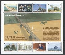 PK230 1995 NICARAGUA WWII MILITARY & WAR 50TH ANNIVERSARY 1945-1995 1KB MNH - WW2
