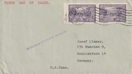 Canada Lettre Pour L'Allemagne 1949 - Cartas