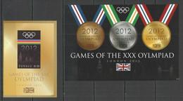 IMPERF 2012 TUVALU OLYMPIC GAMES LONDON 2012 1KB+1BL MNH - Estate 2012: London