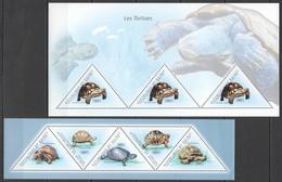 BC239 2011 GUINEE GUINEA FAUNA MARINE LIFE REPTILES SEA TURTLES LES TORTUES 2KB MNH - Schildkröten