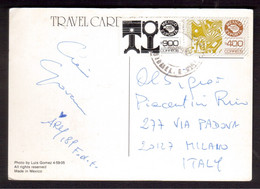 XZ171   MEXICO 1989 Postal History Postcard To Iyaly  MEXICO EXPORTA Stamps - Mexico