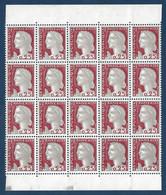 Marianne De Decaris N°1263 Bloc 5 Bandes De 4 De Carnets Non Confectionnés Rare! - 1960 Marianne De Decaris