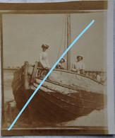 Photox2 Pêche Visser Pêcheur Boot Vers 1910 Bateau Ship Kust Visserij Vis - Orte