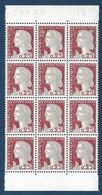 Marianne De Decaris N°1263 Bloc 3 Bandes De 4 De Carnets Non Confectionnés Rare! - 1960 Marianne De Decaris