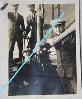 Photo 1926 DE PANNE Bateau De Pêche En Mer ? Visser Pêcheur Boot Bateau Ship Kust Vis - Orte