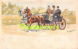 CPA ILLUSTRATEUR GEO BERNIER ATTELAGE ARTIST SIGNED HORSE COACH - Otros Ilustradores