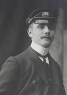 Photo Portrait MARIN Officier ? Marine Belge Boot Bateau Ship Boot Vers 1909 - Boten