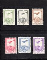 Espagne:  : Année  1930 PA Série De 6 Valeurs N°50 ** à 55 **(11 Eme Congrès Des Chemins De Fer à Madrid.) - Nuovi