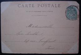 Beure 1903 Doubs Cachet Tireté Sur Carte Du Restaurant Du Bout Du Monde Bernhart Propriétaire - 1877-1920: Semi Modern Period