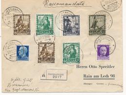 1939 RACCOMANDATA X LA GERMANIA CON PROCLAMAZIONE IMPERO 2X0,25+2X0,10 +1,75+0,30 - Marcophilia