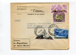 1953 Enveloppe Van Albergo Ristorante TITANO  Naar Comp. Int. Wagons Lits St Nicolas Place Cardinal Mercier - - Briefe U. Dokumente