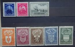 BELGIE  1947     Nr. 748 / 749 - 750 / 756 - 760       Postfris **    CW 37,50 - Nuevos