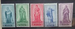 BELGIE  1947     Nr. 751 - 755       Postfris **    CW 62,50 - Nuevos