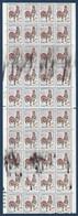 France 1962 Coq N°1331** Feuille De 40 De Carnets Non Confectionnés Avec Belles Variétés D'essuyages !! Signé Calves - 1962-65 Coq De Decaris