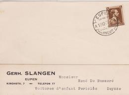 Canton De L'Est. Eupen - Carte Privée TP. N° 427 Col Ouvert- G.Slangen Voitures D'Enfant / Deinze 1936 - 1934-1935 Léopold III