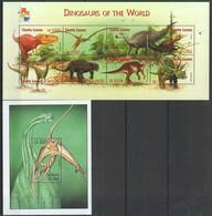G1039 2001 SIERRA LEONE FAUNA DINOSAURS OF THE WORLD REPTILIES 1KB+1BL MNH - Prehistorics