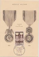 FRANCE 1952 CARTE MAXIMUM 1er Jour Médaille Militaire N°YT 927 Cachet 1er Jour Paris 5.7 1952 Les Maximaphiles Franç. N° - 1950-59