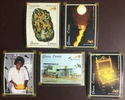 Ghana 2007 Independence Anniversary Minerals Gold Mining MNH - Ghana (1957-...)
