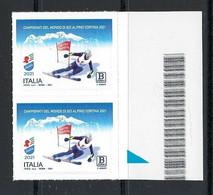 2021 ITALIA - Campionati Del Mondo Di Sci Alpino CORTINA - Serie Completa - COPPIA - B Zona 1 - Adesivi C - 2011-...: Nieuw/plakker