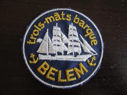 Ecusson Tissu Voilier Trois-Mâts Barque BELEM - Blazoenen (textiel)