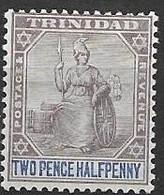 Trinidad Mint Hinged * 5,5 Euros 1896 Single CA Wtm - Trinidad & Tobago (...-1961)
