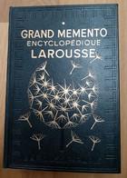 Grand Memento Encyclopédique Larousse 2 Tomes 1936 - état Impeccable - Enciclopedie