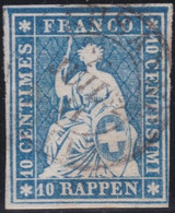 Suisse    .   Y&T   .   27B  (2 Scans)  Point Clair     .      O         .      Oblitéré   .   /     .   Cancelled - Used Stamps