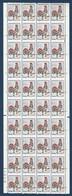 France 1962 Coq N°1331 Feuille De 40 De Carnets Non Confectionnés Avec Variétés De Piquage Très à Cheval ! Signé Calves - 1962-65 Coq De Decaris