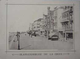 CPA Grand Format BLANKENBERGE La Digue Editeur Jules Nahtrath Pâtisserie Pre 1914 Kust - Ohne Zuordnung