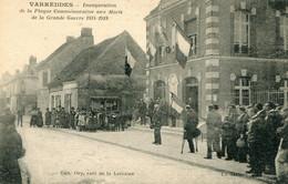VARREDDES - INAUGURATION DE LA PLAQUE COMMEMORATIVE Aux Morts De La Grande Guerre 1914-1918 - Other Municipalities
