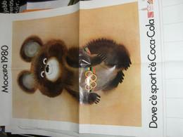 POSTER PUBBLICITARIO COCA COLA OLIMPIADI 1980 MOCKBA1980 - Affiches Publicitaires