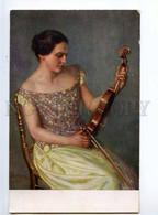 244844 BELLE Violin VIOLINIST By RIENACKER Vintage PFB #7003 - Altre Illustrazioni
