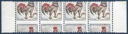 France 1962 Coq N°1331** Bande 4 De Carnets Non Confectionnés Avec Variétés De Piquage Très à Cheval !! Signé Calves - 1962-65 Coq De Decaris