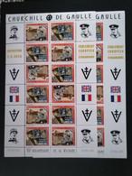 Militaire 70 Ans De Victoire 1945 De Gaulle Churchill Dentelé Et Non Dentelé - Ungebraucht