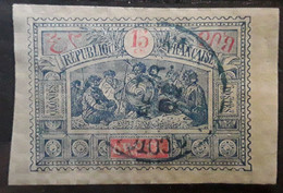 OBOCK 1894  Type Guerriers Somalis,  Yvert No 52, 15 C  Bleu Et Rouge   ,obl Cachet Bleu  TB - Used Stamps