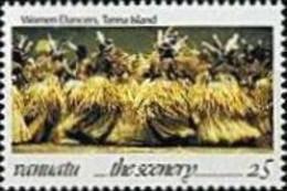 Vanuatu, 1993, Michel 923, Local Scenery-women Dancers Tanna Island, 1v Out Of Set, MNH - Danza