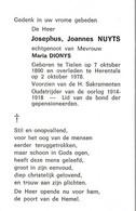 Tielen, Herentals, 1978, Josephus Nuyts, Dionys, Oud-Strijder 14-18 - Devotion Images