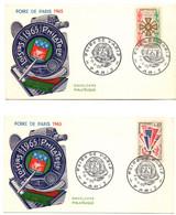 Foire De Paris 31/05/1965 Paris 2 Enveloppes Avec N°s 1450 Et 1452 - Ohne Zuordnung