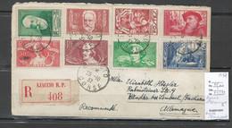 France -Lettre Recommandée De Ajaccio - Corse Pour Limbach - Allemagne - 1937 - Chomeurs Intellectuels - Storia Postale