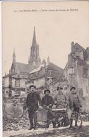 68 THANN Les Diables Bleus Poilus Devant Les Ruines , Moto Année 1920 - Thann
