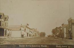 Hull - Iowa USA // Carte Photo - RPPC //  Street Scene Looking North 1910 - Other