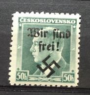"""(4642) CZECHOSLOVAKIA 1937 : Yv# 324 WITH OVERPRINT """"WIR SIND FREI !"""" - MNH VF OVPT - Ongebruikt"""