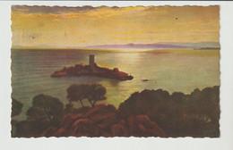 CPA / ST.RAPHAEL / L'ILE D'OR AU COUCHER DU SOLEIL /1938 - Saint-Raphaël