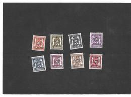 V420/427  Postfris XX - Sobreimpresos 1936-51 (Sello Pequeno)