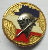 DRAGO INSIGNE 1° Bataillon De Choc, C.N.E.C, Guilloché Embouti Doré (G455) - Fuerzas Aéreas