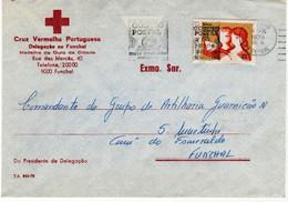 Cruz Vermelha Portuguesa , Red Cross , 1979  Funchal Slogan Postmark CODIGO POSTAL ,  Madeira - Croce Rossa