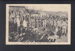 Dt. Reich Feldpost AK Feldpredigt Auf Dem Friedhof Chaillon 1916 - Weltkrieg 1914-18