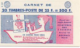 Carnet Muller à 25F Neuf ** Série 3-59 - Usados Corriente